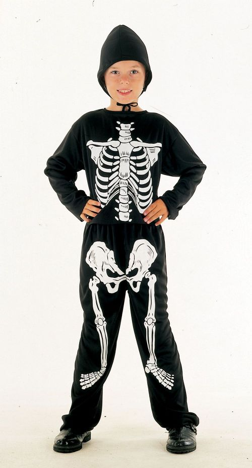 Childs Skeleton Budget Costume Living Dead Halloween Fancy Dress Outfit